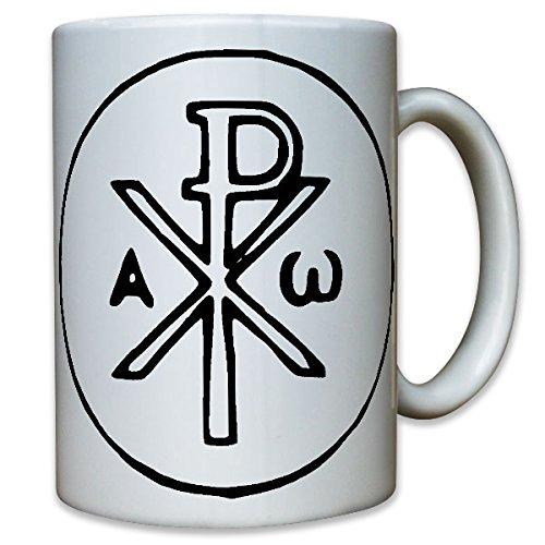 Christusmonogramm Jesus Bibel Fische Himmlisch Maria Josef Gott - Tasse Kaffee Becher #10491 T