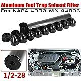 auspilybiber Upgrade Alluminio Filtro Carburante, 1/2-28 5/8-24 Alluminio Filtro Carburante Filtro Solvente per Napa 4003 24003 Filtro 10IN