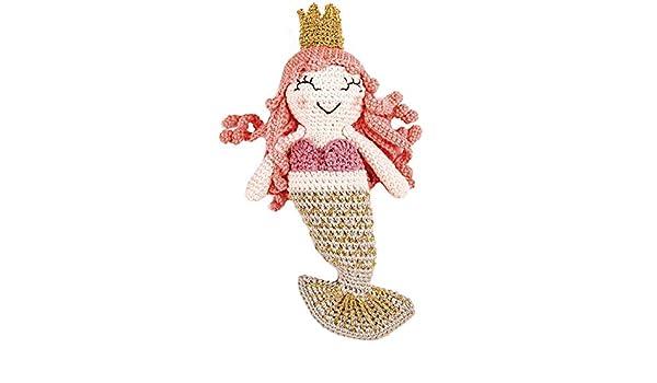 Kostenlose Anleitung: Kleine Meerjungfrau häkeln   350x600