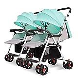 Twin Baby Passeggino Multi-Funzione Ultra Light Sitting/reclinabile Shock Pieghevole Passeggino Ombrello Auto BB Auto Adatto per 0-3 Anni,D