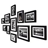 Painting Mantra Boulevard Polymer Individual Photo Frame (3pc: 8x10 inches, 8pc: 6x8, Set of 11,Black)