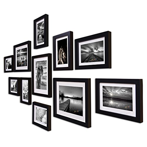 Painting Mantra Boulevard Set Of 11 Individual Photo Frame/Wall Hangings For Home Dã©Cor - Black