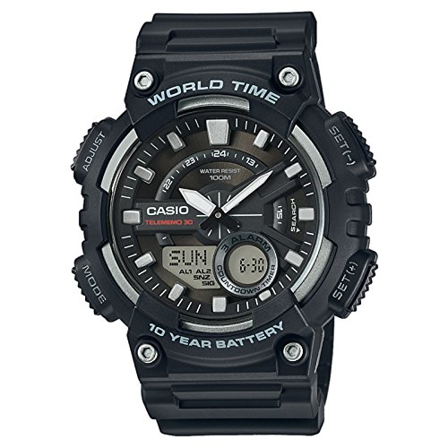 Casio Collection Men's Analogue/Digital Quartz Watch with Resin Strap – AEQ-110W-1AVEF Best Price and Cheapest
