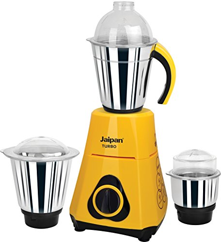Jaipan JT-500 watts Turbo Mixer Grinder (Yellow & Black)  available at amazon for Rs.1999