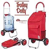 dbest products Trolley Dolly comestibles Plegable Carro de la Compra, Color Rojo