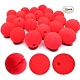 dancepandas Nez Clown, 25 Nez de Clown Rouges 5 cm en Mousse pour Masquerade Déguisement Cosplay