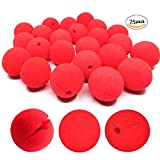 dancepandas Schiuma Naso da Clown, Spugna Clown Nose Rosso Pagliaccio Circus Party Halloween Costume (25 Pack)