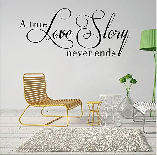 Lvabc Eine Wahre Liebe Geschichte Nie Endet Zitate Wandaufkleber Room Decor House Inspirierende Schlafzimmer Wallpaper