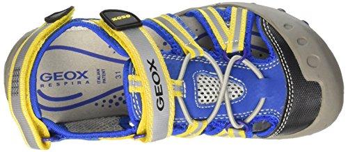 Geox Kyle C, Sandales Bout Fermé Garçon Multicolors(Royal/Yellow)