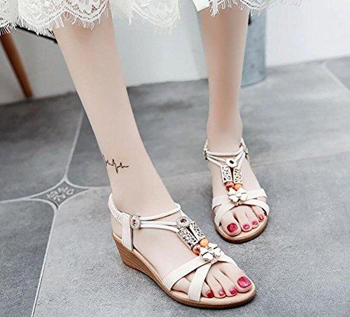 Estate 2017 nuova pendenza con sandali aperta punta in appartamento con scarpe selvaggi 1