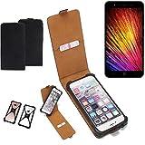 K-S-Trade Flipstyle Case für Leagoo Z7 Schutzhülle Handy Schutz Hülle Tasche Handytasche Handyhülle + integrierter Bumper Kameraschutz, schwarz (1x)
