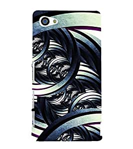 Modern Art Design Pattern 3D Hard Polycarbonate Designer Back Case Cover for Sony Xperia Z5 Compact :: Sony Xperia Z5 Mini