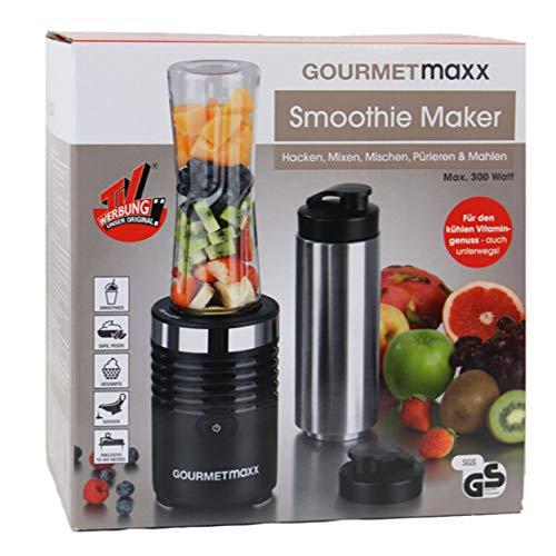 GOURMETmaxx Smoothie Maker 300W aus Edelstahl ( zum Hacken, Mixen, Mischen, Pürieren und Mahlen, 600ml ) - Ree Bücher