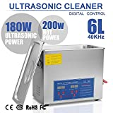 BananaB JPS-30A Ultraschallreiniger 6L reiniger ultraschallgerät Ultraschallreinigungsgerät Ultrasonic Cleaner mit Heizung Digital Timer for glasses Jewellery False Teeth Coins etc