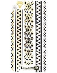 Très Beaux Tatouages Temporaires Métalliques (tribal géométrique) de ReignBeau B