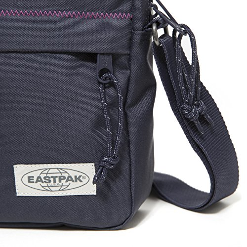 Eastpak The One Borsa a Tracolla, 2.5 Litri, Grigio (Black Denim) Blu (Navy Stitched)