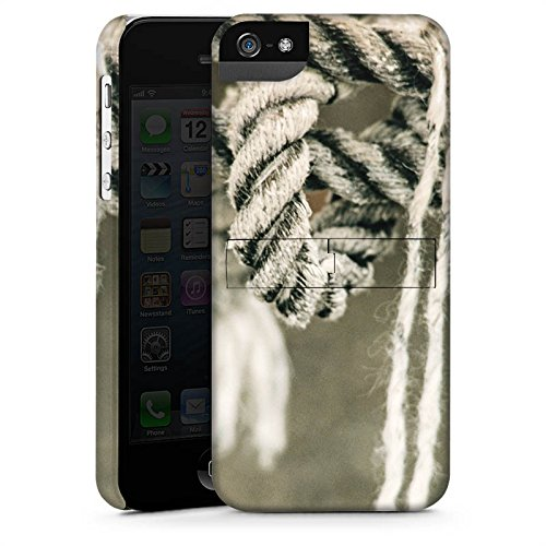 Apple iPhone X Silikon Hülle Case Schutzhülle Seil Seefahrt Knoten Premium Case StandUp