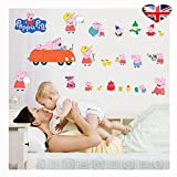 Peppa Pig Family Car Wall Sticker,Give a Lovely Voice Kids Bedroom Wall, by pepa