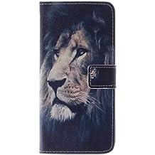 Coffeetreehouse - Bolso pequeño al hombro para mujer Black lion iPhone 6 Plus /6S Plus