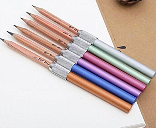 Fulla2116 Bleistiftverlängerung, verstellbar, Aluminiumlegierung, 5 Stück