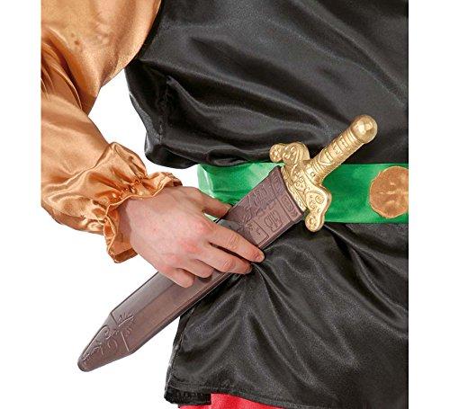 Römisch Kostüm Zubehör - Guirca Gallier Römer Schwert Römerschwert Silber Römisches Schwert Mittelalterschwert Gladiatorenschwert Kurzschwert Kostüm Zubehör 48 cm