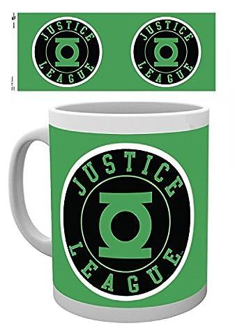 Set: Green Lantern, Justice League, DC Comics Tasse À Café Mug (9x8 cm) + 1x Sticker Surprise 1art1®
