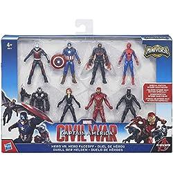 Marvel Capitán América Pack con figuras de colección Civil War (Hasbro B8214EU4)
