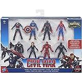 Marvel Capitán América - Pack con figuras de colección Civil War (Hasbro B8214EU4)