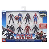 Hasbro B8214EU4 Marvel Captain America Ensemble de figurines de la collection Civil War