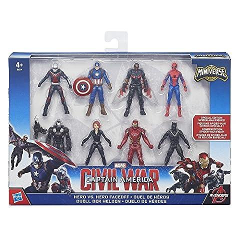 Marvel – Captain America : Civil War – Miniverse – Duel de Héros – 8 Mini Figurines 6 cm