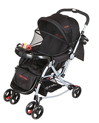 Tiffy & Toffee 3 in 1 Baby Stroller Pram (Black)