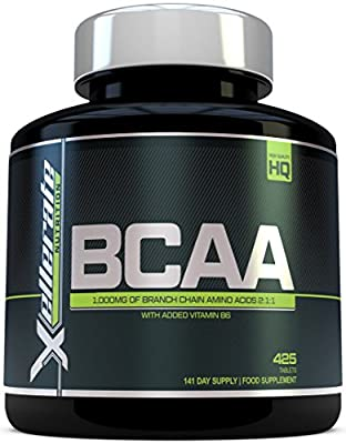 BCAA Tablet 1000mg - 425 Tablets - 3000mg Daily Serving - 141 Day Supply - 2:1:1 BCAA's Branch Chain Amino Acids + B6 - Ingredients Include L-Leucine, L-Isoleucine, L-Valine by Xellerate Nutrition	 by Xellerate Nutrition