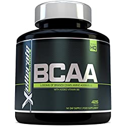 BCAA Tablet 1000 mg - 425 Tablets - 3000 mg Daily Dose - Supply for 141 Days - 2: 1: 1 Branched Chain Amino Acids with B6 - Ingredients Include L-Leucine, L-Isoleucine, L-Valine