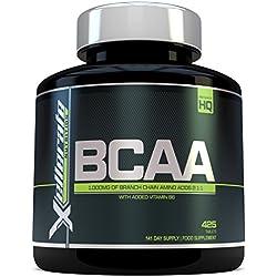 BCAA Comprimido 1000 mg - 425 Comprimidos - 3000 mg Dosis Diaria - Suministro para 141 Días - 2:1:1 Aminoácidos De Cadena Ramificada con B6 - Ingredientes Incluyen L-Leucina, L-Isoleucina, L-Valina