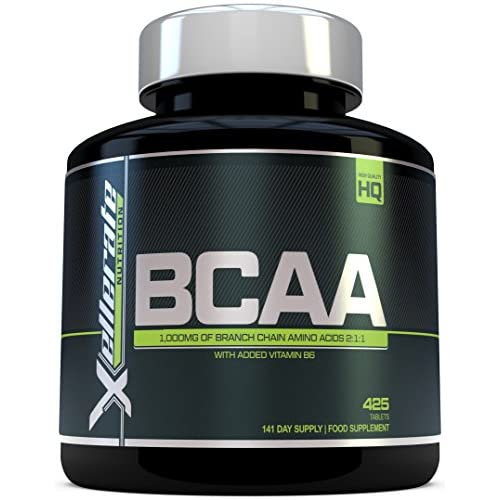 51fLsoyzemL. SS500  - BCAA Tablet 1000mg   425 Tablets - 3000mg Daily Serving   141 Day Supply   2:1:1 BCAAs Branch Chain Amino Acids + B6…