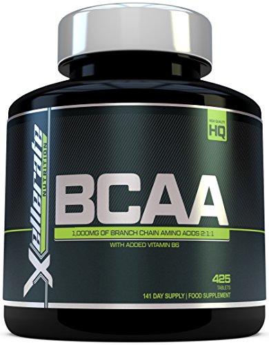 BCAA Comprimé 1000mg - 425 Comprimés - 3000mg Portion Journalière – Approvisionnement pour 141 Jours - 2:1:1 d'Acides Aminés à Chaîne Ramifié -L-Leucine, L-Isoleucine, L-Valine