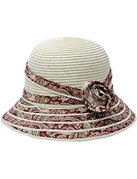 Fuxitoggo Cappello di Paglia del Cappuccio del Secchio dei Cappelli della  Spiaggia del Cappello Pieghevole del ce86bc9375c2