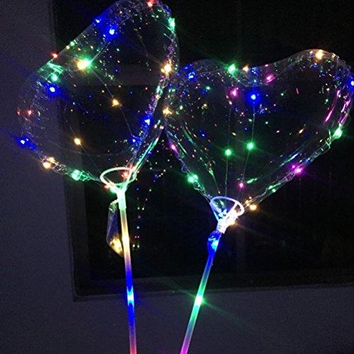 Uonlytech 2 stücke led herz liebe luftballons transparent bobo leuchten luftballons blase licht dekoration für valentinstag geburtstag party