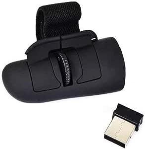 Sungpunet USB Finger Mouse Bluetooth Wireless Mouse Ottico della Maniglia Finger Ring Mouse per Laptop Notebook pc-Black