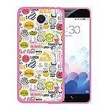 WoowCase Meizu m3 Note Hülle, Handyhülle Silikon für [ Meizu m3 Note ] Fastfood Handytasche Handy Cover Case Schutzhülle Flexible TPU - Rosa