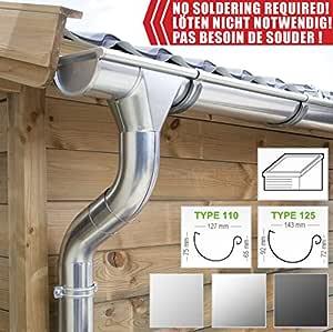 4 m Komplett Set Paket   Titan Zink  Alle Größen Dachrinne Ablaufrohr Zubehör