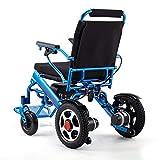 L&U Elektrischer Klapprollstuhl (18 Meilen Reichweite), 28 kg inkl. Batterie, mit Verstellbarer Rückenlehne, elektrischer tragbarer Rollstuhl, Doppelfederung, kann im Flugzeug Sein