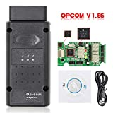 Uemaker Dispositif de Diagnostic OBD2, OBD Opel, OBD2 USB Scanner WiFi pour OPCOM 2014V V1.99 Camion Diesel avec Bluetooth USB pour Opel