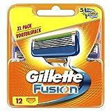 Gillette Fusion Rasierklingen für Männer 12Stück -