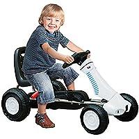 Homcom Vélo et Véhicule pour Enfants Kart à Pédales avec Frein à Main Acier Plastique Blanc et Noir Neuf 04