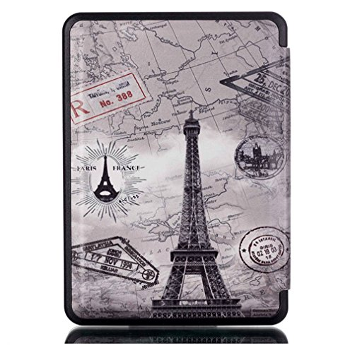 Pacyer® Étui Kindle Case Ultra Slim Coque Flip Cover PU Case Etui en Cuir pour Amazon Kindle 2016 Housse de Protectio 5