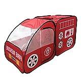 Sharplace Kinderzelt Auto Spielzelt Pop up Spielhaus - Kinder Indoor Outdoor Spielzeug - Rot - 140 x 70 x 70cm