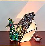 gohoo Continental decorativa lámpara de mesa lámpara creativa del pavo real restaurante tienda de lujo exclusivo restaurante del hotel artes decorativas, tuba