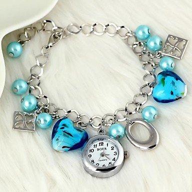 Bella Orologi, Trifoglio braccialetto di perle di cristallo delle donne alla moda guardare (Perla Del Trifoglio)
