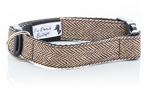 Pet Pooch Boutique Tweed Collar for Dog,